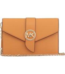 michael michael kors saffiano leather charm shoulderbag