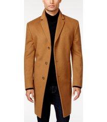 kenneth cole reaction raburn wool-blend over coat slim-fit