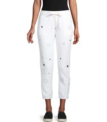 n:philanthropy women's star night sweatpants - white - size m