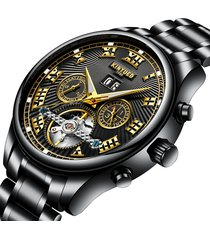 kinyued orologi meccanici automatici orologi da uomo d'affari