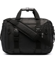 snow peak logo zipped backpack - black