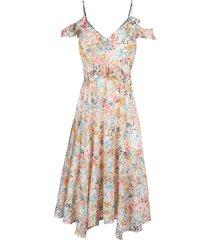 women's rachel rachel roy floral print handkerchief hem dress