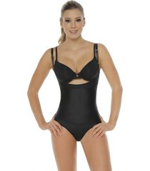 faja body con neolatex tipo panty bodylinecontrol 1107p negro
