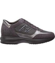 scarpe sneakers donna camoscio interactive h flock