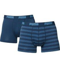 puma boxershorts 2-pak streep blauw