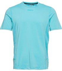 adv essence ss tee m t-shirts short-sleeved blå craft
