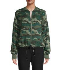 bb dakota women's invisibility mode bomber jacket - army green - size l
