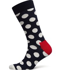 big dot sock sockor strumpor blå happy socks