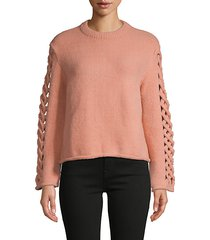 cut-out roundneck sweater