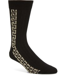 men's versace greek key socks