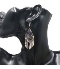 orecchino d'epoca goccia orecchino rombo geometriche ciondolo gioielli pendenti etnici per le donne