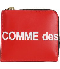 comme des garcons wallet small red hl wallet