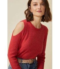 amaro feminino suéter ombro aberto, laranja queimado
