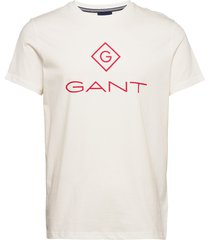 d1. color lock up ss t-shirt t-shirts short-sleeved creme gant