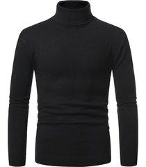 turtleneck pullover plain sweater