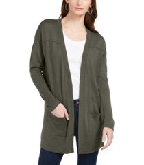 style & co petite open-front drop-shoulder cardigan, created for macy's