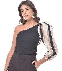 blusa para mujer en poliester color-negro-talla-xl