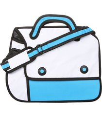 morral grande 2 botones teramachi blanco-celeste fight for your right