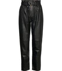 jessi leather pants leather leggings/broek zwart minus