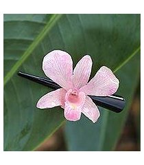 natural orchid hair clip, 'pink orchid love' (thailand)