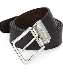 reversible pebbled leather belt