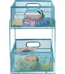 mind reader 2 tier storage basket organizer