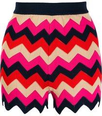 m missoni zig-zag knit shorts - neutrals