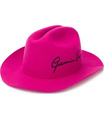 versace gv signature cowboy hat - pink
