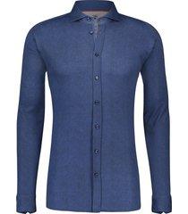 desoto shirt marineblauw structuur