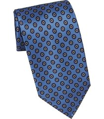 circle medallion silk tie