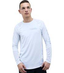camiseta blanco under armour mk1 ls graphic