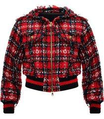 tweed jacket with hood