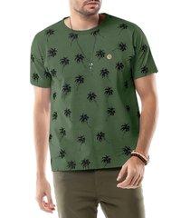 camiseta estampa coqueiros tze verde - kanui
