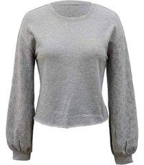 inc embellished-sleeve sweatshirt, created for macy's