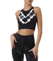 electric & rose grayson chevron bra, size small in oncl onyx/cloud at nordstrom