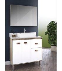 gabinete para banheiro 80cm cesto roupa lilies mã³veis - multicolorido - dafiti