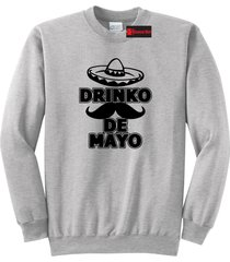 cinco drinko de mayo mexican fiesta party tee crewneck sweatshirt