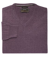 jos. a. bank v-neck textured knit men's sweater clearance