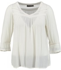 vero moda viscose shirt 3/4 mouw snow white