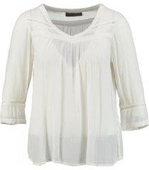 vero moda viscose shirt 3/4 mouw snow white