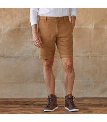 sundance catalog men's bermuda linen shorts in tan 33