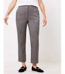loft curvy textured slim pants