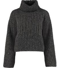 fabiana filippi ribbed turtleneck sweater