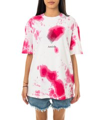 amish t-shirt donna jersey tie dye fuxia p21amu200ca16xxx2.pnk