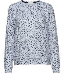 l/s top sweat-shirt trui blauw pj salvage