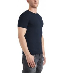 garage t-shirt round neck bodyfit navy stretch ( art 0201)