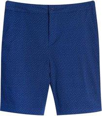 bermuda bolsillos diagonales color azul, talla 10