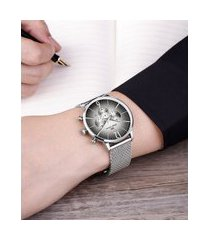 relógio cronógrafo philiph london masculino - pl80159623m prateado