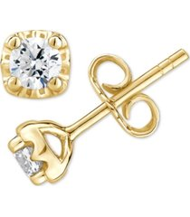 certified diamond stud earrings (1/2 ct. t.w.) in 14k white, yellow or rose gold