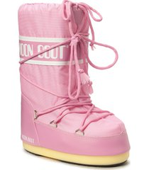 moon boot nylon shoes boots ankle boots ankle boot - flat rosa moon boot